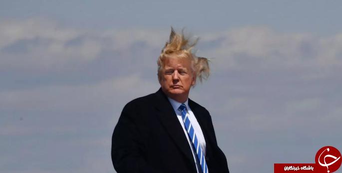 تصاویری از مضحکترین حالتهای موی ترامپ