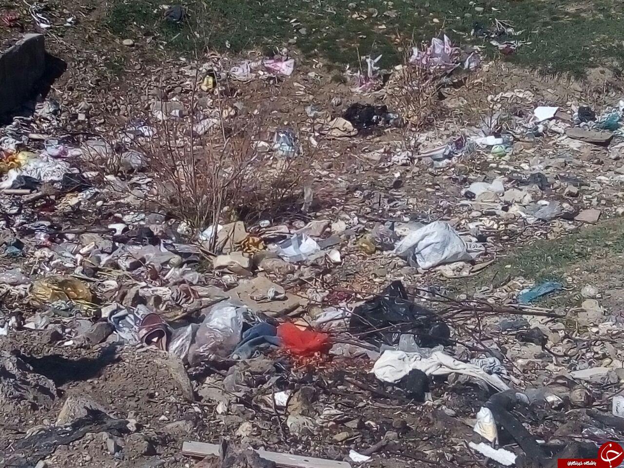 تصویرهایی از دپوی آشغال در روستای قیصریه