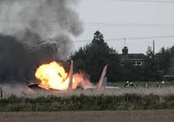 لحظه اصابت موشک یمنی به جنگنده متجاوز سعودی +فیلم