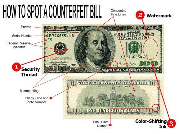 با این ۷ ترفند دلارهای تقلبی را تشخیص دهید!
