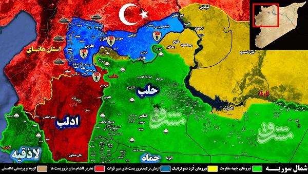 آرزوهای بلند پروازانه ترکیه برای اشغال مناطق تحت تصرف نیروهای کُرد/ آیا دندان طمع اردوغان در شمال سوریه کشیده میشود ؟ + نقشه میدانی و عکس