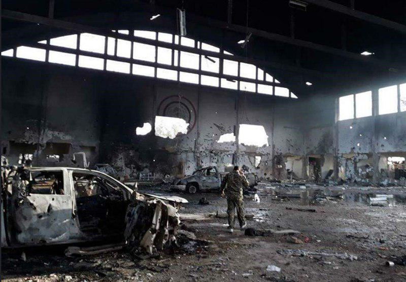 اولین تصاویر از محل شهادت مدافعان حرم ایرانی در فرودگاه «T۴» سوریه