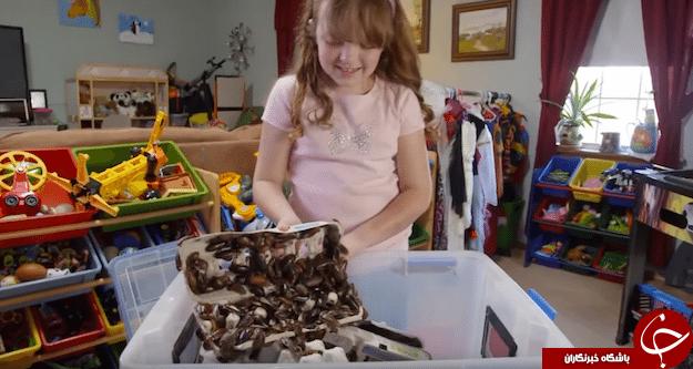 زندگی عجیب دختر ۹ ساله با هزاران سوسک چندشآور! +فیلم