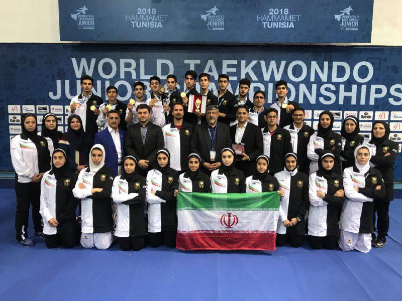 آقایی نوجوانان ایران با 7 مدال طلا و 2 برنز بر تکواندو جهان/ جشن قهرمانی جهان بعد از هشت سال