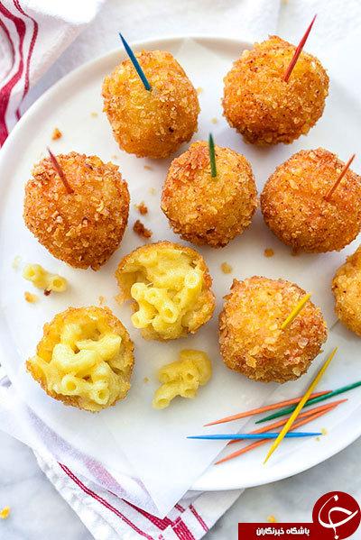 یک غذای خوشمزه و متفاوت با ماکارانی و پنیر+ دستورالعمل