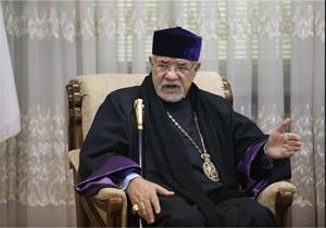 باشگاه خبرنگاران -محکومیت حمله موشکی آمریکا، فرانسه و انگلیس به سوریه توسط اسقف اعظم ارامنه