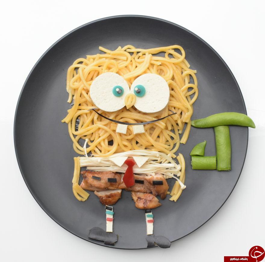 غذاهای کارتونی ایده جالب یک مادر برای فرزندش + تصاویر
