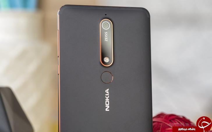 تصاویر در دست گوشی Nokia 6 (2018) را ببینید +عکس