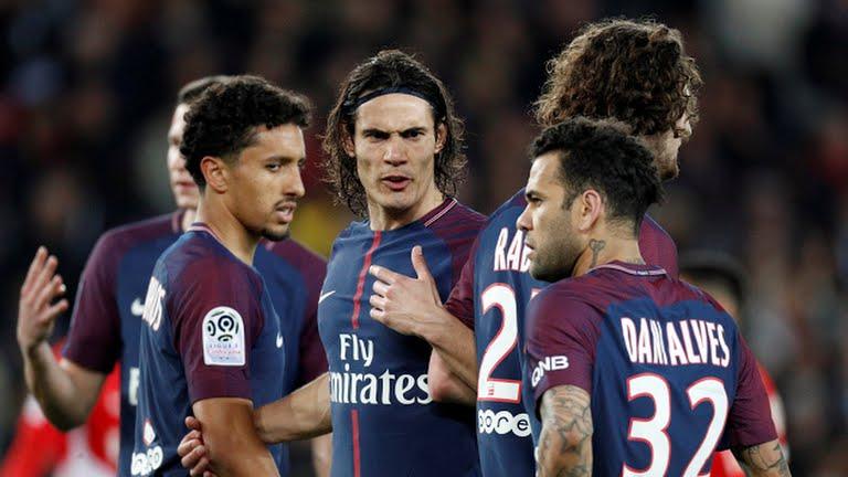 نتیجه تصویری برای جشن قهرمانی زودهنگام پاریسنژرمن با زدن ۷ گل به موناکو