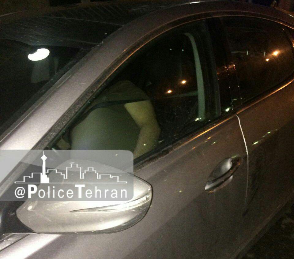 کشف جسد مرد 40 ساله در خودرو هیوندا آزرا+عکس