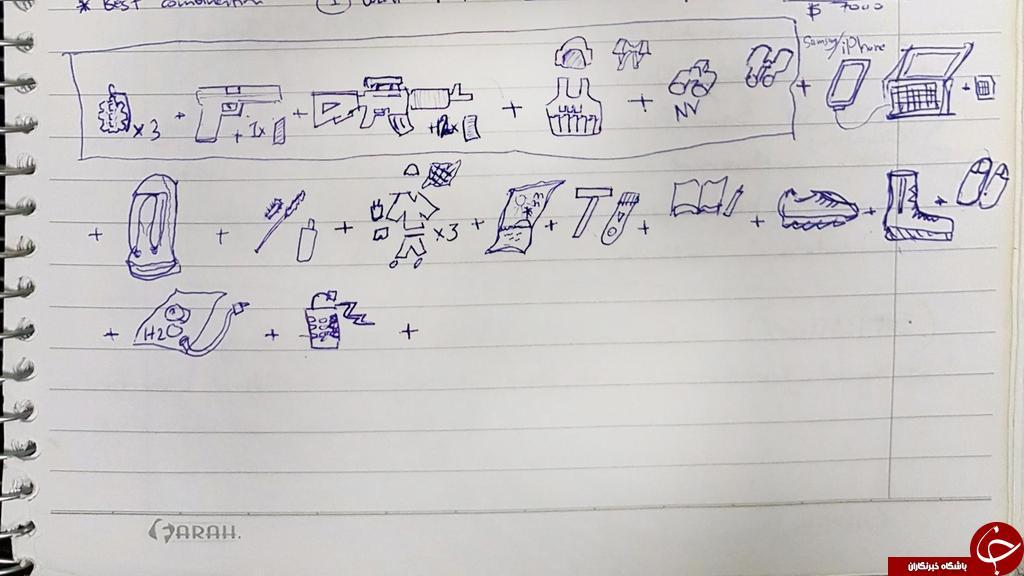 جزئیاتی از دفترچه یادداشت یک عنصر داعشی  تصاویر/////////