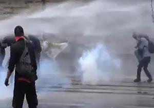 سرکوب وحشیانه تظاهرات «نه به مکرون» + فیلم