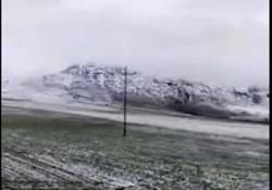 شهروندخبرنگار لرستان؛ بارش برف بهاری در روستای گایکان + فیلم