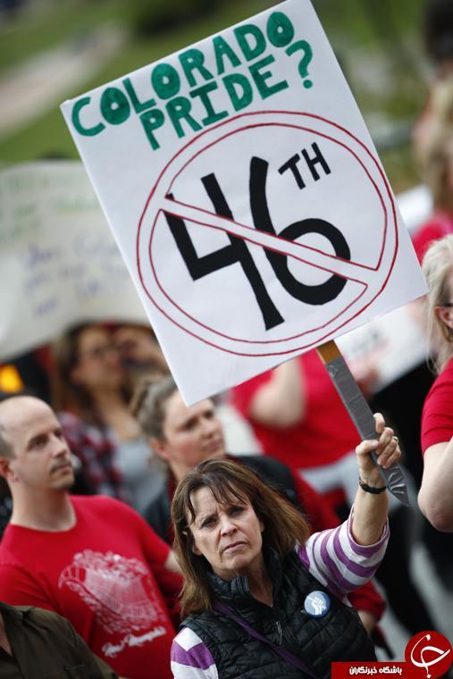 تظاهرات معلمان کلرادو و درخواست افزایش بودجه از کنگره+ تصاویر