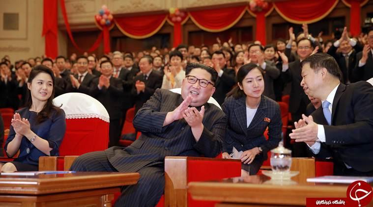 حضور رهبر کره شمالی در نمایش هنری یک گروه چینی + تصاویر////////////