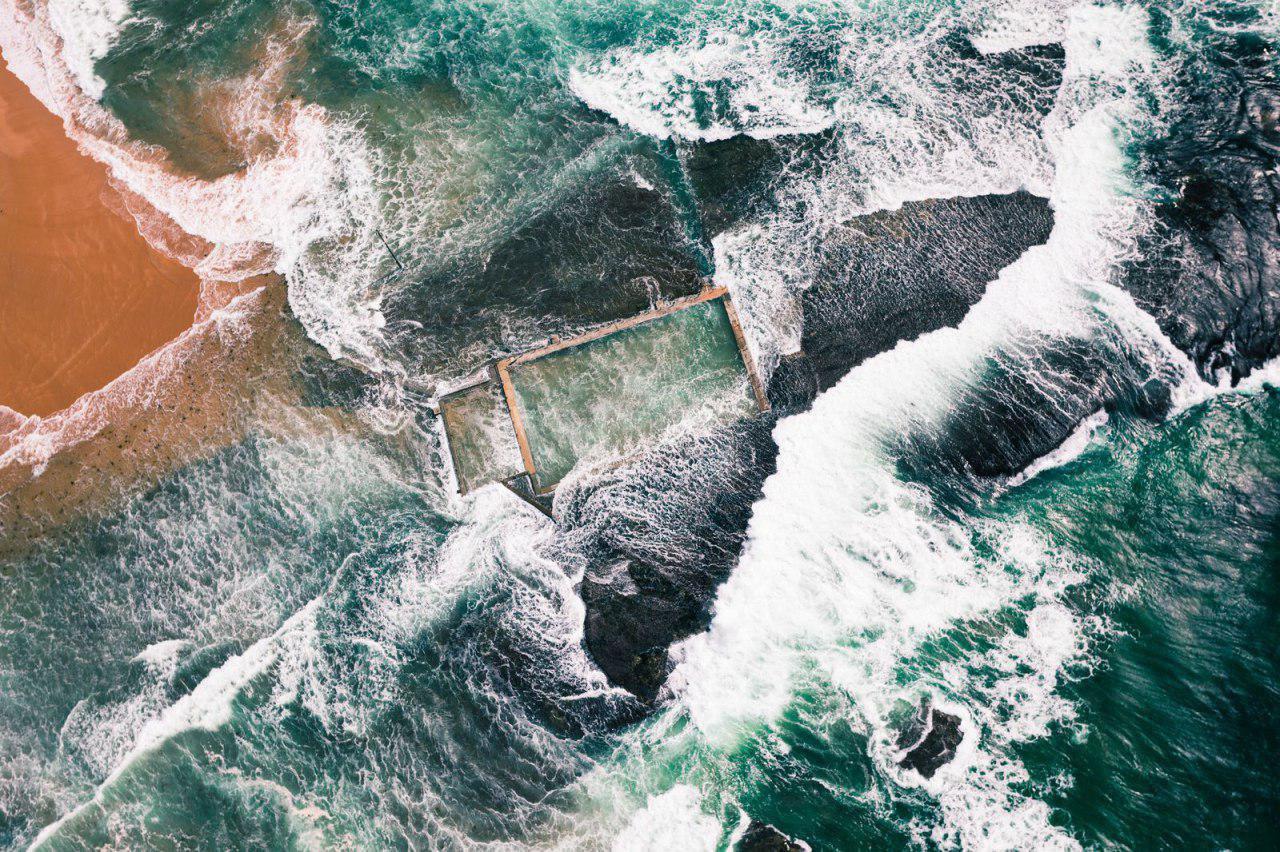 ساختار صخره ای ساحل سیدنی در عکس روز نشنال جئوگرافیک