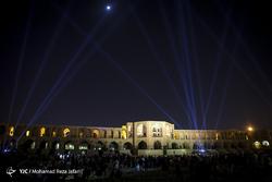 نور پردازی سه بعدی پل خواجو - اصفهان