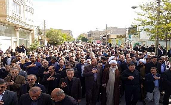 باشگاه خبرنگاران -تشییع پیکر امام جمعه فقید شهر آبیک