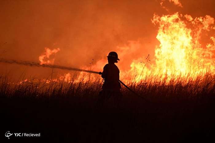 آتش سوزی گسترده در اوکلاهاما - آمریکا