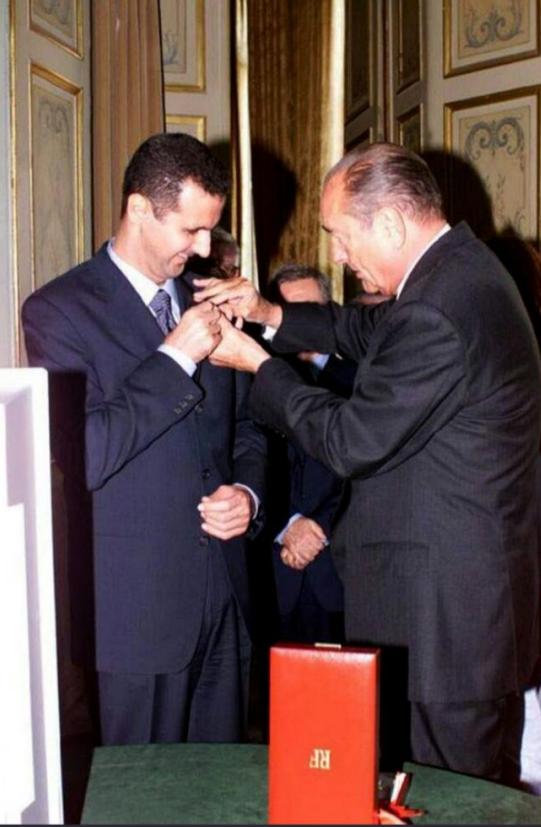 بشار اسد نشان «لژیون دونور» فرانسه را پس داد