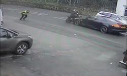 حادثه غیر منتظره ای که سارق زرنگ را به دام  پلیس انداخت +فیلم