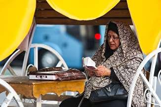 مسافران نوروزی در پایانه مسافربری بیهقی تهران