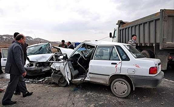 باشگاه خبرنگاران -12 مصدوم در تصادف شدید 2 پراید