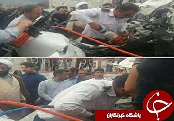 یک کشته و دو زخمی در تصادف زنجیرهای محور خرم آباد به بروجرد+عکس