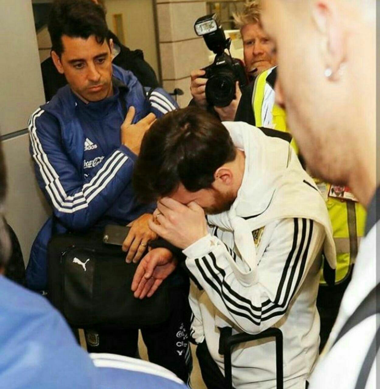 حمله عکاسان به مسی در مادرید+عکس