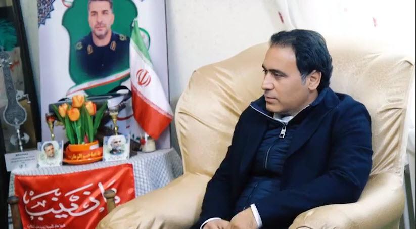 مهدی مهدوی کیا به دیدار خانواده شهید مدافع حرم رفت +فیلم