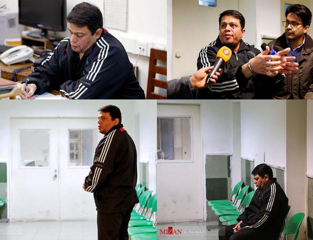 تصاویری از حمید باقری درمنی  لحظاتی پیش از اجرای حکم