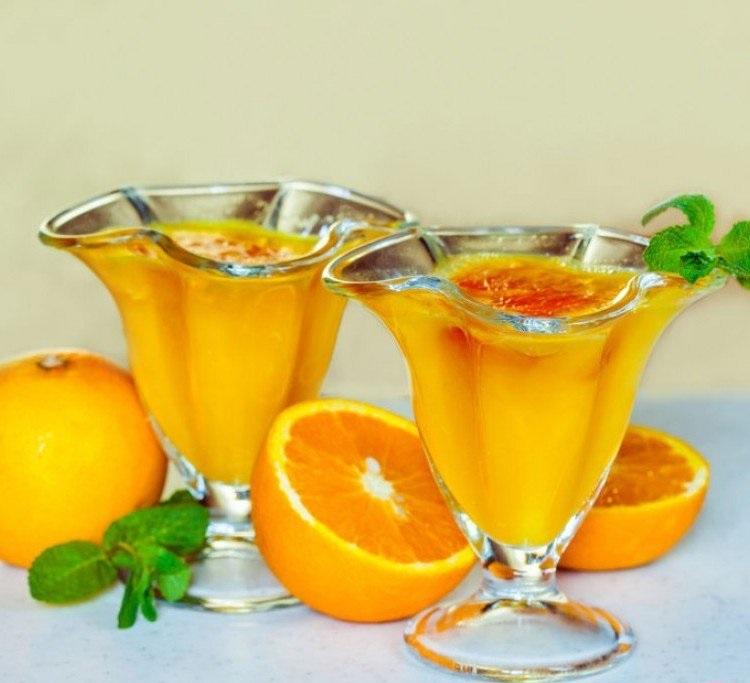 موس پرتقالی، دسر فصل