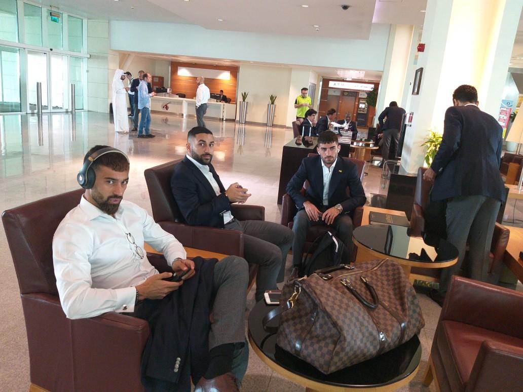 مراسم بدرقه تیم ملی در فرودگاه دوحه برزگار شد