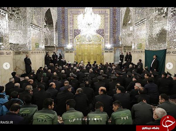 گزارش تصویری از آیین غبارروبی ضریح مطهر حضرت رضا(ع)