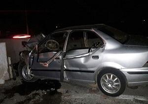 مصدوم شدن ۳ نفر در یک سانحه رانندگی