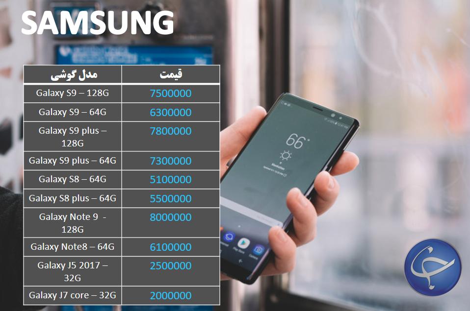 آخرین قیمت تلفن همراه در بازار (بروزرسانی ۱۵ دی) +جدول