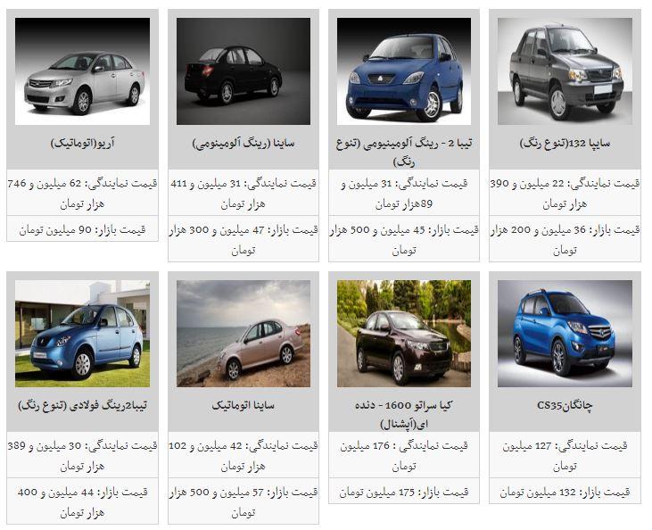 قیمت خودرو افزایش یافت+جدول