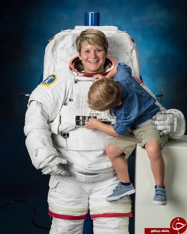 اقدام کم سابقه ناسا در انتشار تصویر فضانورد در کنار فرزندش +تصویر