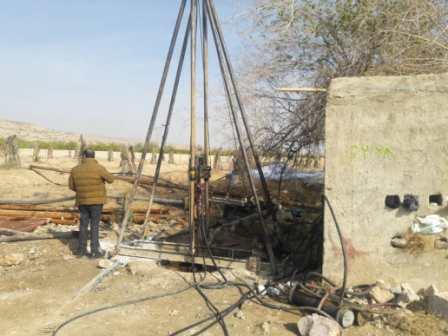 توقیف دستگاه غیرمجاز حفاری در جهرم