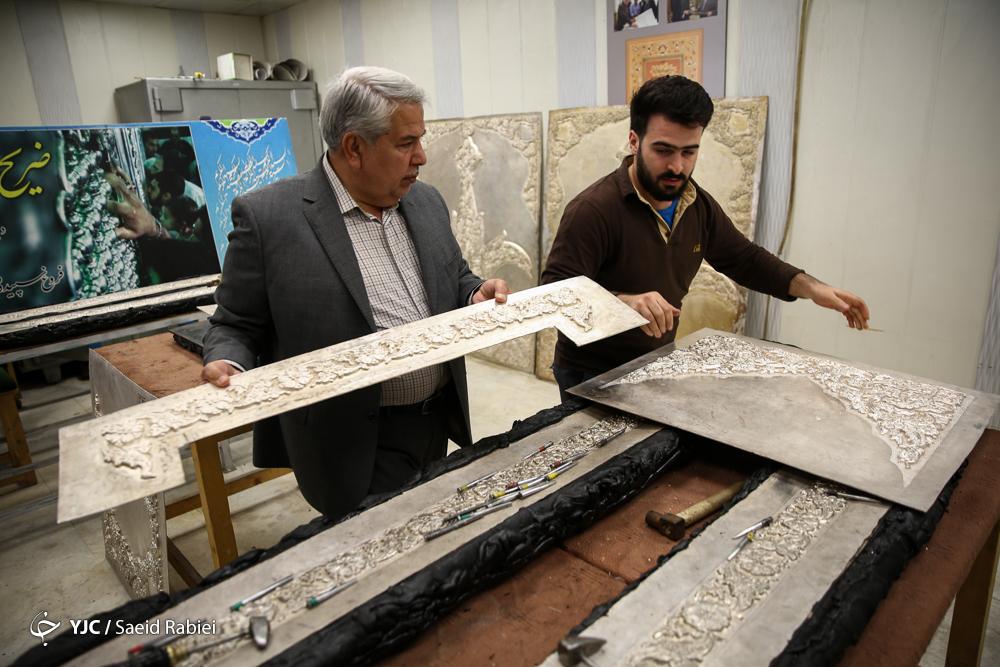 گزارشی از روند ساخت ضریح حرم عبدالعظیم حسنی(ع)/ ۶۰ درصد از ساخت ضریح حضرت عبدالعظیم (ع) به اتمام رسید