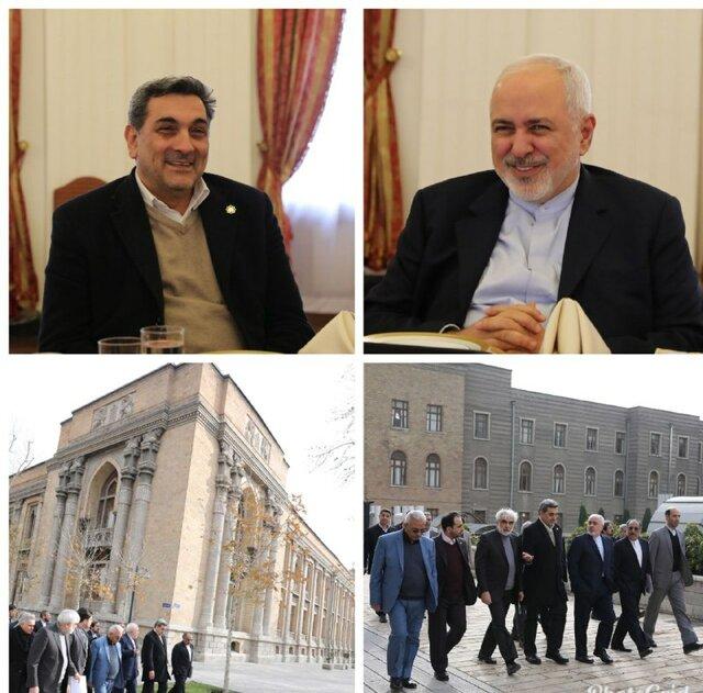 شهردار تهران با ظریف دیدار کرد