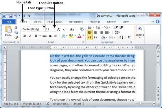 آموزش مایکروسافت ورد | آشنایی با تنظیم فونت و تزیین کردن متن (قسمت ۱۲)