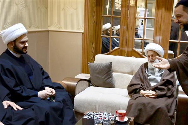 باشگاه خبرنگاران -دیدار دبیرکل نُجَباء با رهبر شیعیان بحرین + تصاویر
