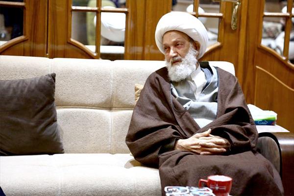 دیدار دبیرکل نُجَباء با رهبر شیعیان بحرین + تصاویر
