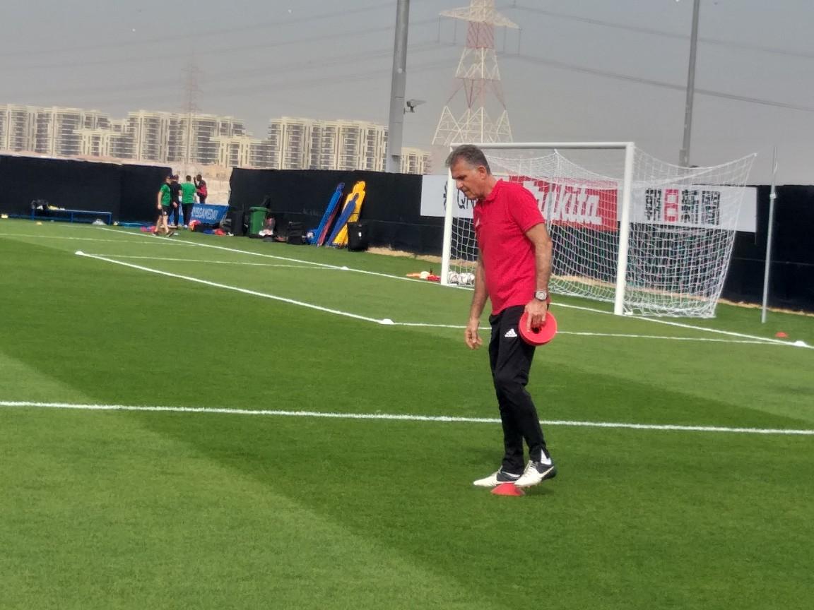 تمرین تیم ملی فوتبال در مجموعه کریکت ابوظبی