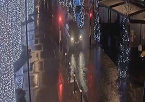 چپ شدن خودرو پس از تصادف عجیب در خیابان + فیلم