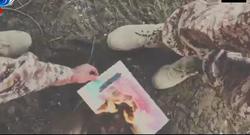آتش زدن تصویر بن سلمان توسط نیروهای سعودی + فیلم