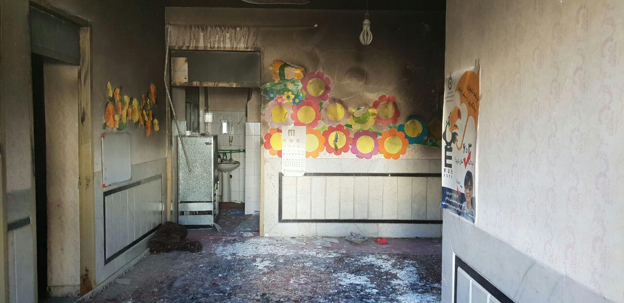 روایت کودکانه از حادثه آتش سوزی مدرسه در زاهدان+ فیلم