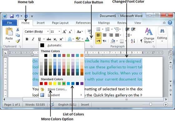 آموزش مایکروسافت ورد | چگونگی تغییر در نوع نوشته و رنگ متن (قسمت ۱۳)