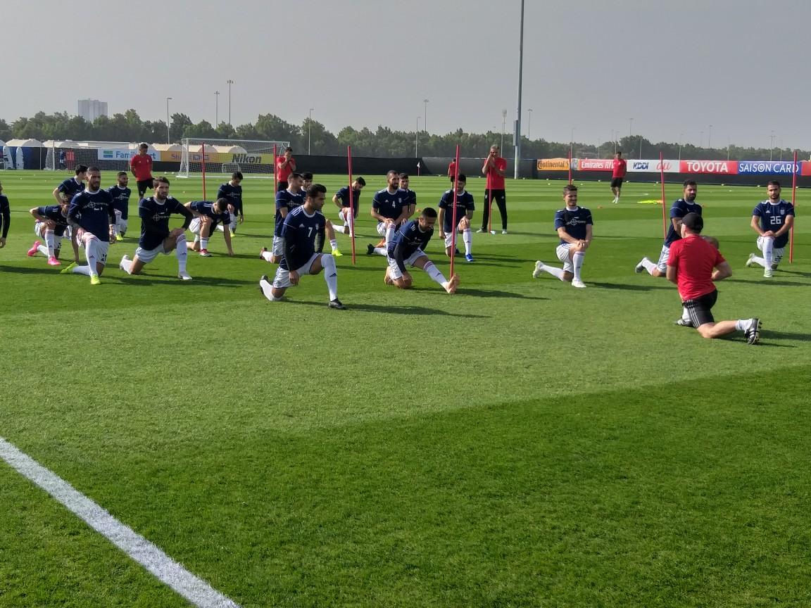 گزارش تمرین تیم ملی فوتبال ایران